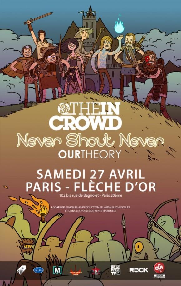 NEVER SHOUT NEVER 27 AVRIL 2013