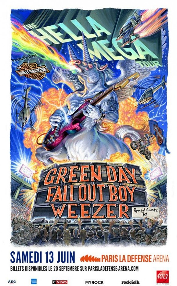 THE HELLA MEGA TOUR - GREEN DAY WEEZER FALL OUT BOY INTERRUPTERS 2020